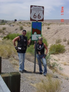 Laughlin Rally and Linda dream of riding on route 66