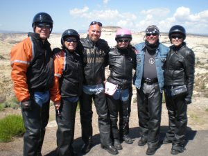 My little family of Bikers Pat & Craig Mike & Lisa and Linda and myself