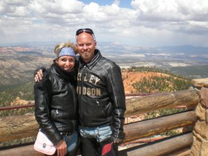 Linda and I at the top of Bryce Canyon