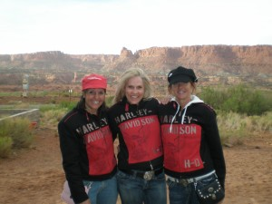 Linda, Dor and Laura with their matching jackets.