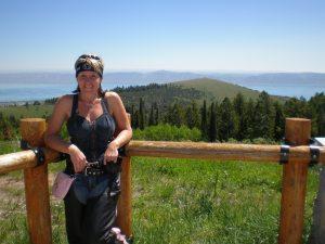 Linda at the Bear Lake over look