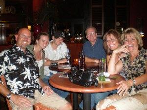 the six of us at the Samba room