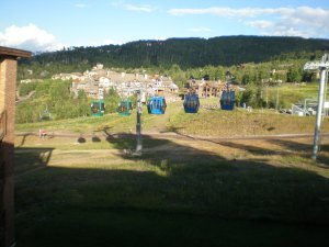 Looking out from our hotel at Snowmass