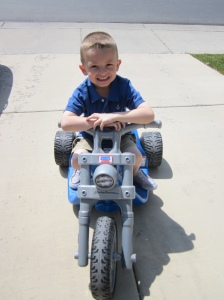 Talon on his Harley