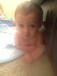 Mason laying down