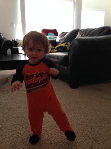 Mason walking